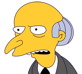 Sr. Burns, o el CEO imperfecto