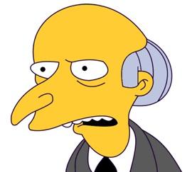 Sr. Burns, o el CEO imperfecto