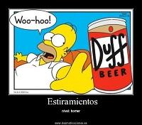 El estiramiento diario de Homer Simpson
