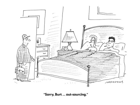 """Traducción libre: """"Burt, no te preocupes. Ya te externalizo yo el servicio"""""""